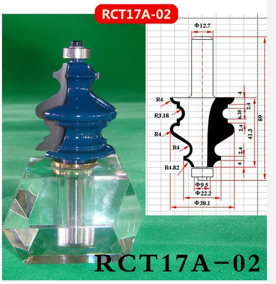 Industry Quality Carbide Wood Working Line Shape Molding Router Cutter Bits V Groove ( RCT17A-02 )  цены
