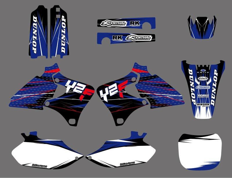 0033 New Style ÉQUIPE GRAPHICS & MILIEUX DÉCALQUES voiture Kits pour Yamaha YZ250F YZ426F YZ400F YZF 1999 2000 2001 2002