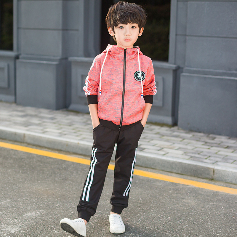 Boy Spring And Autumn Hot Sale Suit 3 Colours Korean version Large Size Cotton comfortable two-piece sets kimocat boy and girl high quality spring autumn children s cowboy suit version of the big boy cherry embroidery jeans two suits