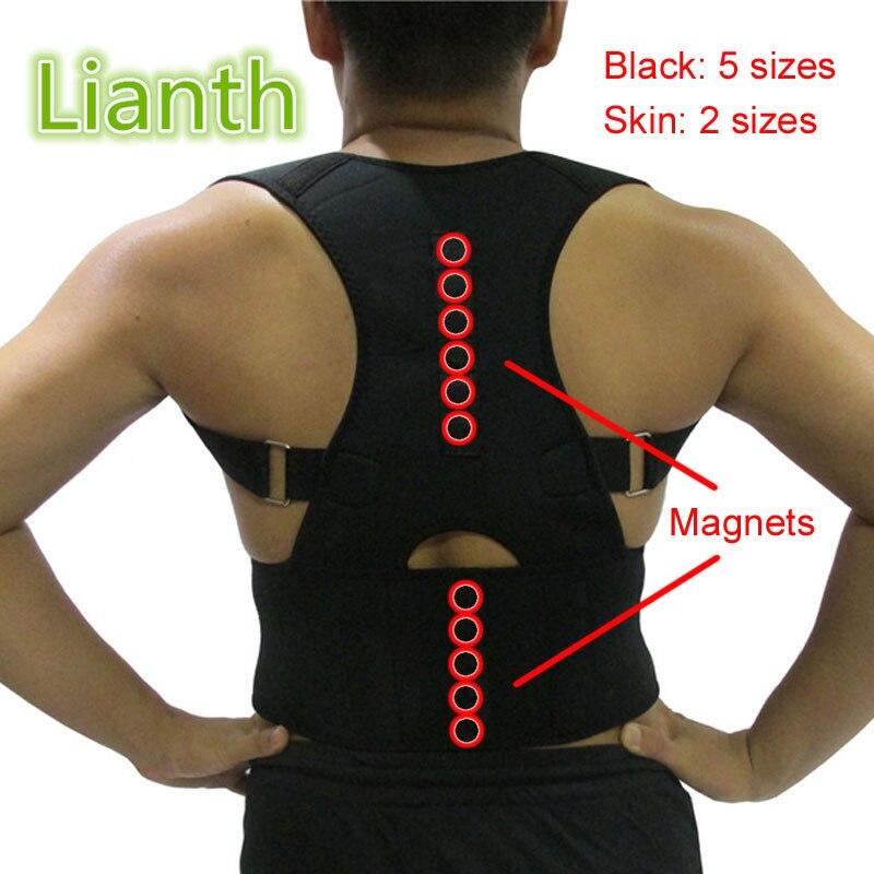 Top-qualität Magnetische Zurück Körperhaltung Korrektor für Student Männer und Frauen 7 Größen Verstellbare Hosenträger Unterstützung Therapie Schulter T174