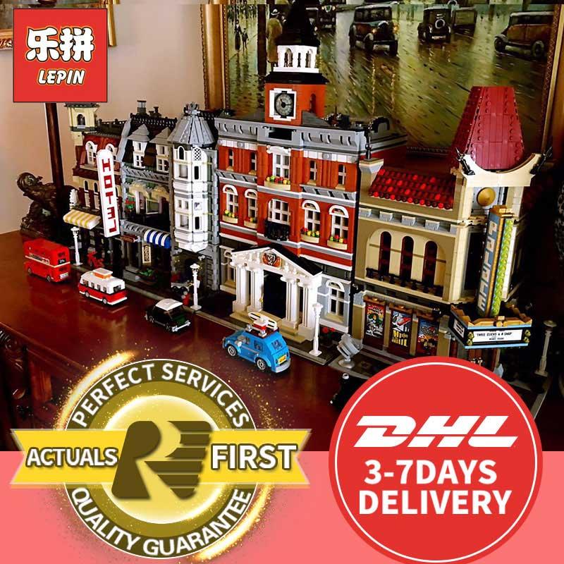 lepin 15019 15035 cafe corner 15002 LegoINGs 15007 15008 Green Grocer 15004 15011 ferris wheel hotel model building kits blocks