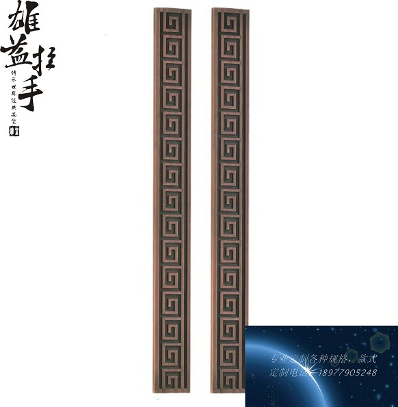 Fretted handle / KTV hotel Chinese antique bronze handle / wooden door handle / square glass door Door HandleFretted handle / KTV hotel Chinese antique bronze handle / wooden door handle / square glass door Door Handle