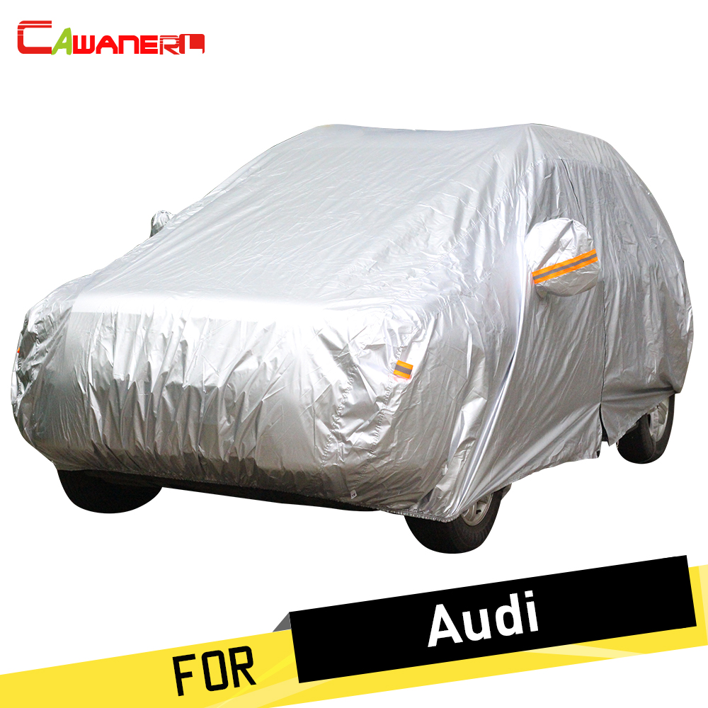 Cawanerl Full Car Cover Auto Anti UV Sun Snow Rain Frost Protector Cover Dust Proof For Audi 100 200 80 90 A1 A3 A4 A5 A6 A8 A8L