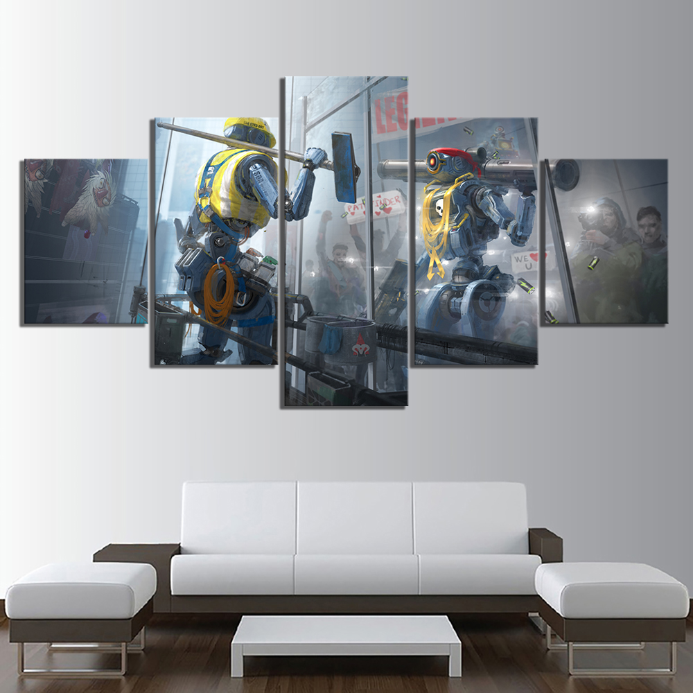 5 Piece Games Art Print Apex Legends Poster Canvas Paintings Fantasy Wall Art for Home Decor no frame canvas