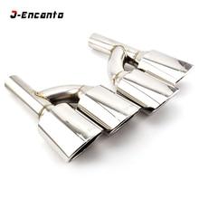 Stainless Steel Exhaust pipe Muffler Tip for Mercedes Benz AMG R style C63 C180 C200 C220 C230 C250 C280 C300 C350 W204 2007- недорго, оригинальная цена