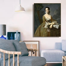 Mrs. Daniel Hubbard by Copley Wall Art Poster Print Canvas Painting Calligraphy Decorative Picture for Living Room Home Decor