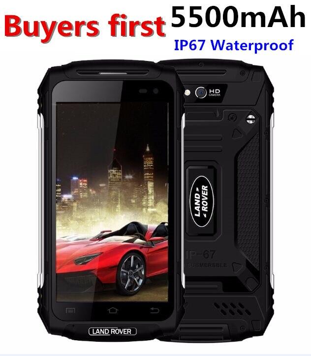 Land Rover X2 IP67 Étanche À La Poussière Smartphone 1280*720 5.0 MTK6737 Quad Core RAM 2 GB ROM 16 GB 5500 mAh 4G 8MP Mobile Téléphone