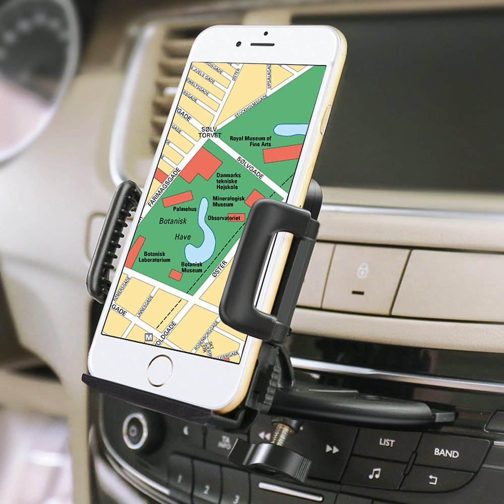Universal Car Holder CD Slot Mount mobile Phone Holder 360 Rotation Car Mount Cell phone Stand For iPhone For Samsung GPS mobile phone
