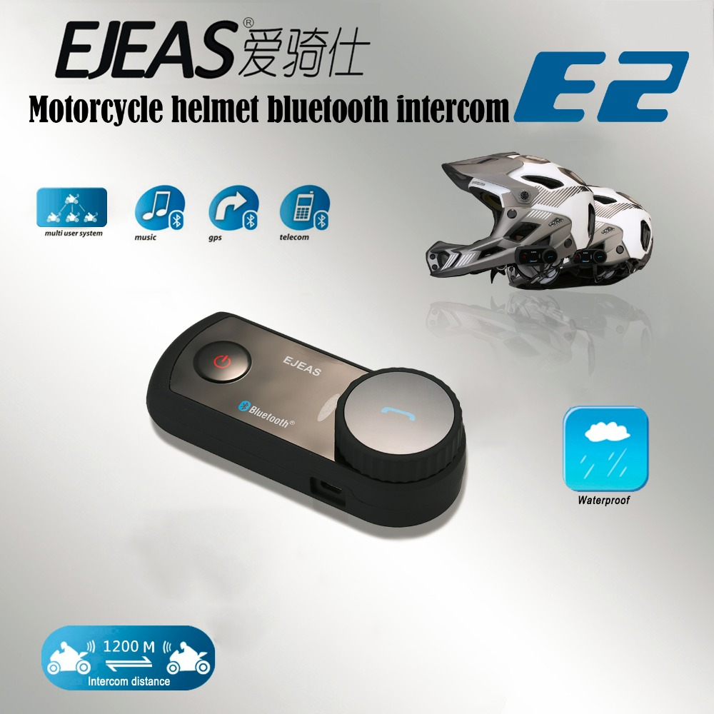 Ejeas e2 1200 m gamme bluetooth 3 0 sans fil 4 coureurs moto casque full duplex mains