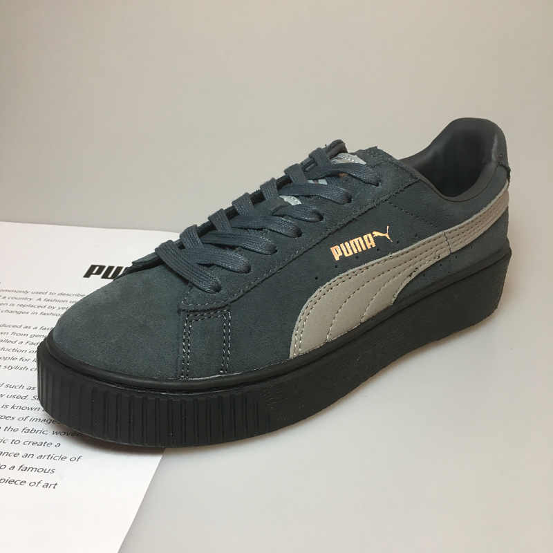 new style 25628 3fa30 Original PUMA x FENTY Suede Cleated Creeper Women's Second Generation  Rihanna Classic Basket Suede Tone Simple Badmin Size 36-39