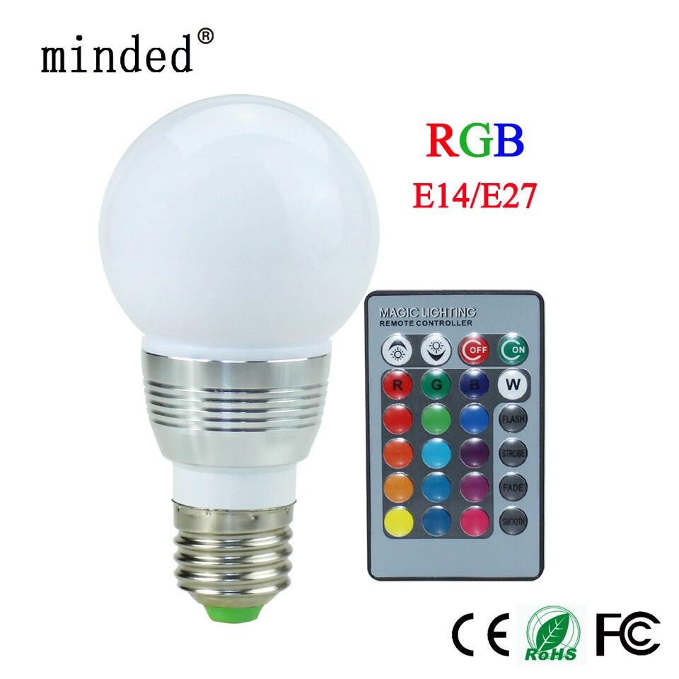 16 Цвет E27 E14 GU10 MR16 85-265 В <font><b>rgb</b></font> светодиодные лампы 3 Вт светодиодные лампы Lamparas <font><b>LED</b></font> лампа пятно Рождество лампады ИК-пульт