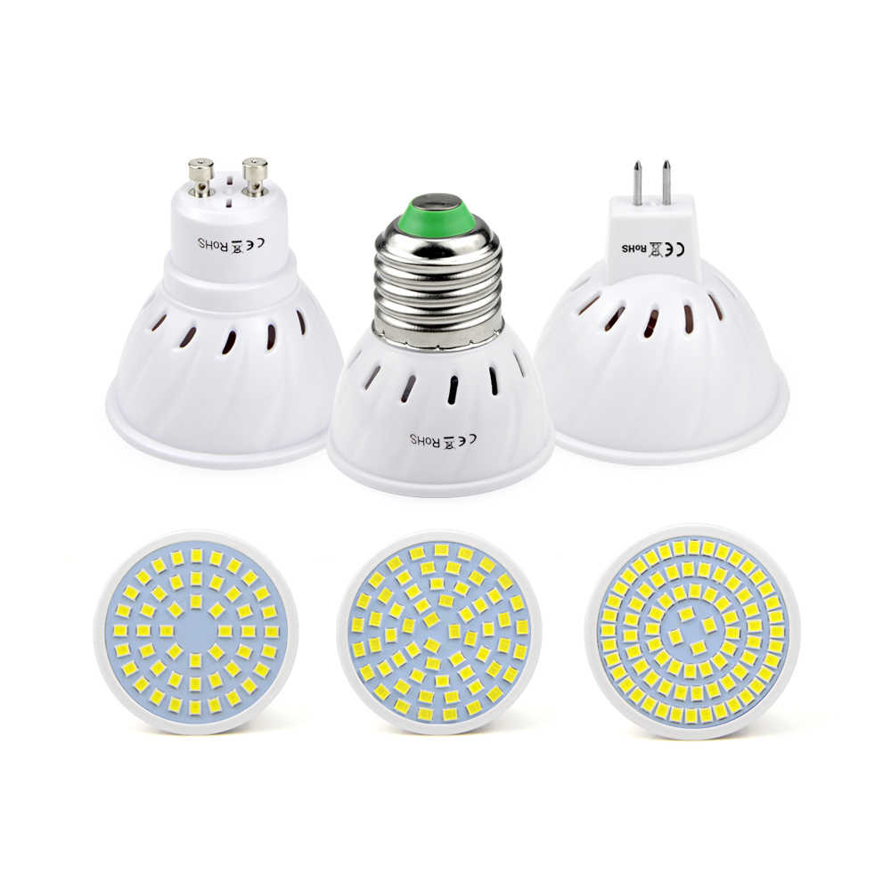 LED spot lamp Bulb 220V 230V E27 GU10 MR16 GU5.3 Spotlight SMD2835 48/60/80 LEDs spot light For kitchen home decor lighting