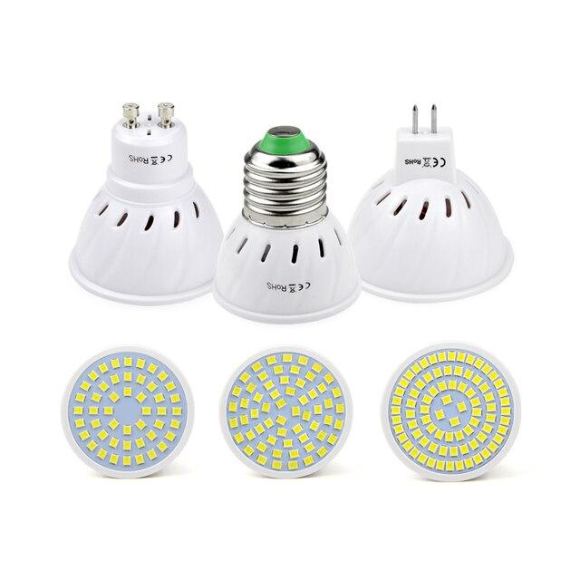 LED ספוט מנורת הנורה 220 V 230 V E27 GU10 MR16 GU5.3 זרקור SMD2835 48/60/80 נוריות ספוט אור עבור מטבח עיצוב בית תאורה
