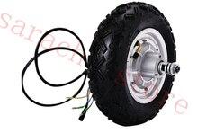 10″ 800W 24V electric brushless non-gear hub motor, disc brake electric scooter motor , electric skateboard motor