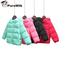 Girls winter coat casual kids winter jacket candy color down winter jacket for boy baby girl winter coat 90% down