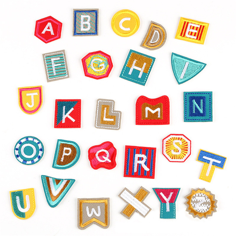 Home & Garden Apparel Sewing & Fabric 26pcs/set English Alphabet D Embroidery Diy Sew On Alphabet Punk Applique Diy Mixed 26 Letter Patches For Garment For Jewelry
