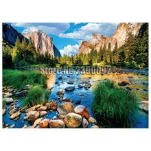 Mountain Lakes & Rivers 5D Diy Diamond Painting Cross Stitch Home Decor Full Rhinestones Mosaic Yosemite Park Embroidery