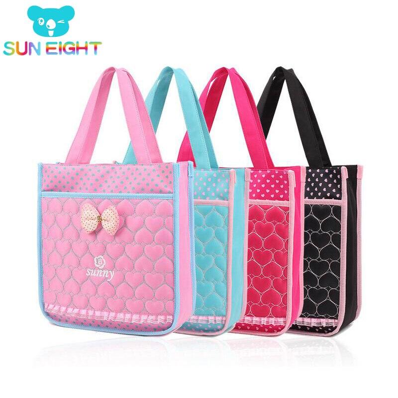 SUN EIGHT Lace Girl Bag Study Handbag School Bag Kid Messenger Bags Children Travel Bolsa Lunchbag