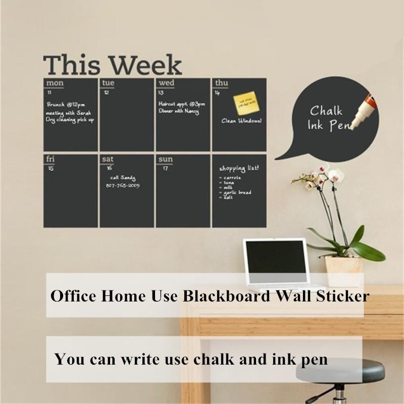 Schedule Blackboard Wall Sticker Vinyl Removable Writable