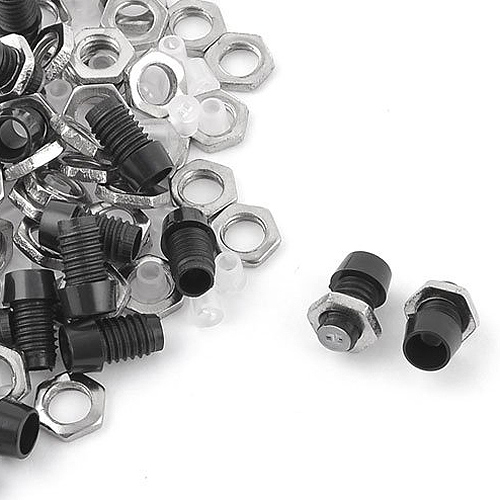 uxcell Metal Nut LED Mounting Holder Panel w 3mm 50 Pieces Black