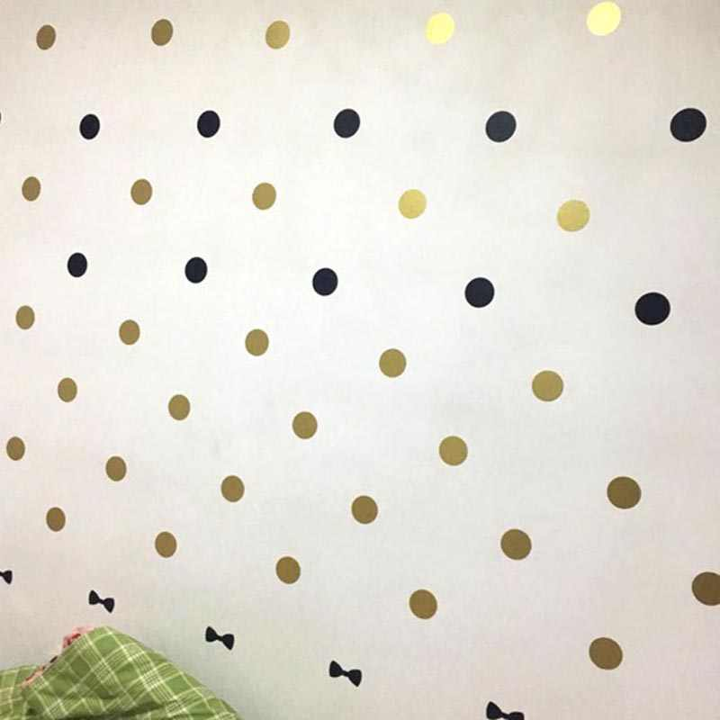 1sheet 3/4/5cm Polka Dots circles Removable Vinyl Wall Stickers Baby Kids Children Bedroom Wallpaper Home Decor Wall Art Decal