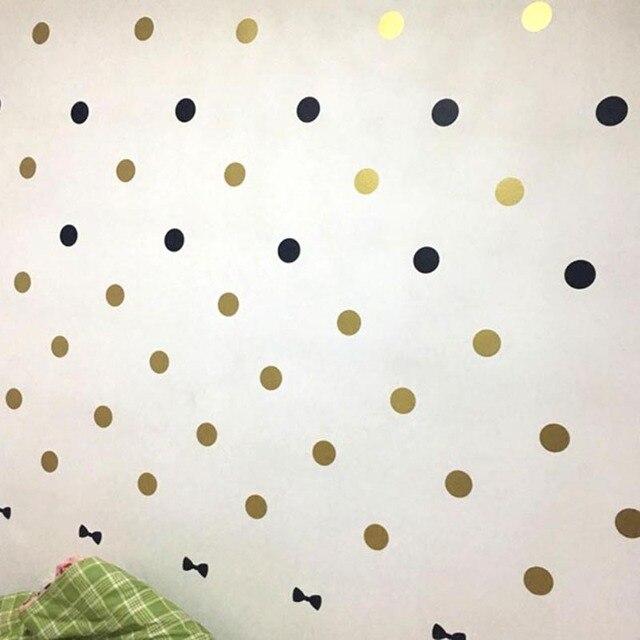 1sheet 3/4/5cm Polka Dots circles Removable Vinyl Wall Stickers Baby Kids Children Bedroom Wallpaper Home Decor Wall Art Decal