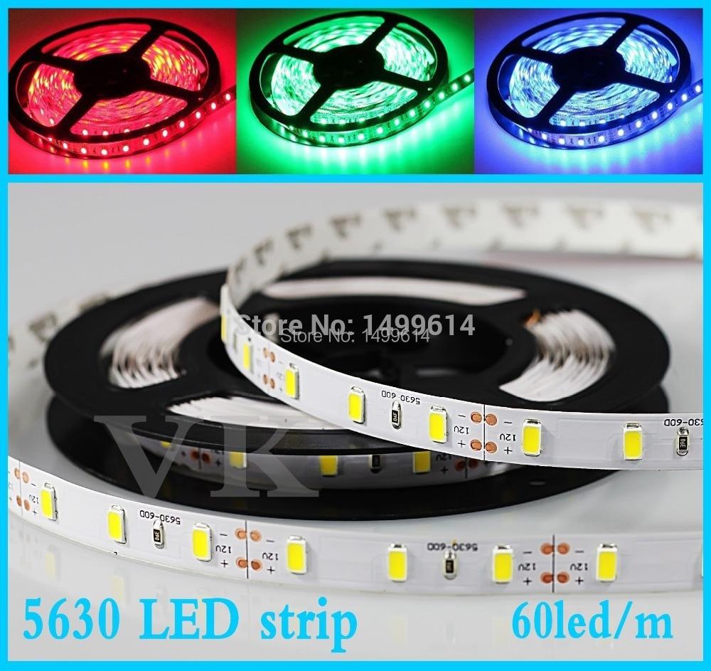 20m LED strips lights 5630 DC 12V flexible light no waterproof ledstrip Fiexble Light Led Ribbon Tape Home Decoration Lamp