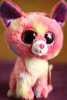Big Eyes Plush Ty Beanie Boos Cancun Chihuahua Plush Pink Medium