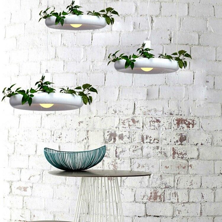 Hanging Gardens of Babylon pots potted Nordic White Chandelier Light Fixtures For Dining Room Restaurant