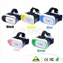 2016 Five Colors Virtual Reality Smartphone VR 3D Glasses google cardboard Head Mount 3D Movies Games 3.5-6.0 inch VR Box