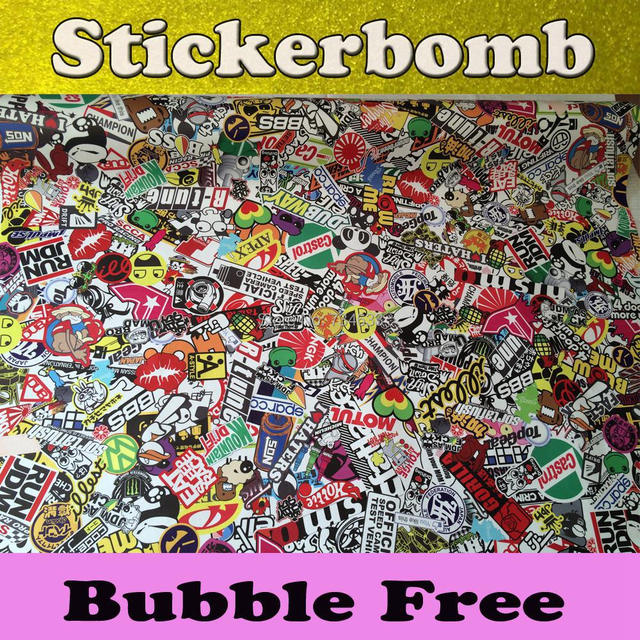 Matte Glossy Jdm Euro Style Stickerbomb Vinyl Car Wrap Sticker