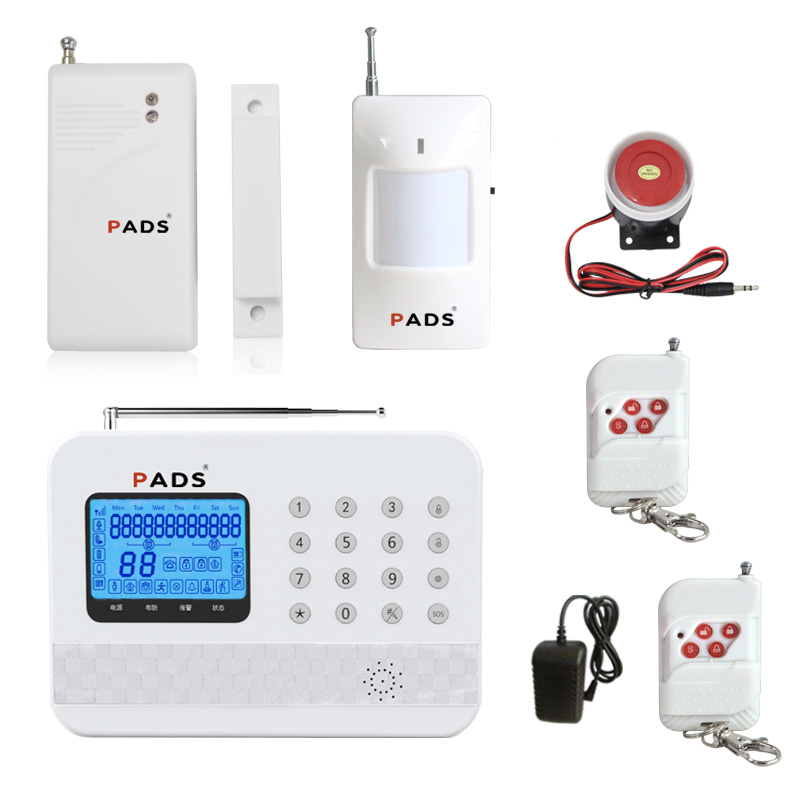 Home Security Alarm System GSM &PSTN Autodial Alarm System Wireless door sensor window detector IOS/Android 433mhz dual network gsm pstn sms house burglar security alarm system fire smoke detector door window sensor kit remote control