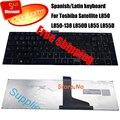 100% nuevo teclado español para Toshiba SATELLITE L850 L850D L855 L855D L870 L870D MP-11B56SU-930 teclado teclado del ordenador portátil