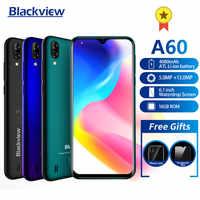 Nuovo arrivo Blackview A60 Smartphone 4080mAh batteria 19:9 da 6.1 pollici doppia Fotocamera 1GB di RAM 16GB di ROM Cellulare telefono 13MP + 5MP macchina fotografica