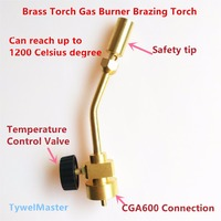Gas Burner Propane MAPP Heating Torch Connection CGA600 1 20UNEF Suitable 14 1 16oz Cylinder Brazing