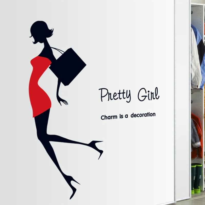 Online Shop Fashion Girl DIY Vinyl Wall Stickers High Heels Bedroom Rooms  Home Decor Art Decals 3D Wallpaper Decoration Adesivo De Parede |  Aliexpress ...