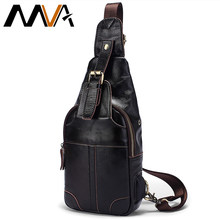 MVA Genuine Leather Male Shoulder Bags USB Charging Crossbody Bags Men Anti Theft Chest Bag School Travel Messenger Bag Male8202(China)
