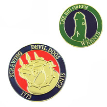Wholesale Custom Devil Dog Animal Coins Souvenir Coins Cheap Commemorative Plated Coin Collectibles стоимость