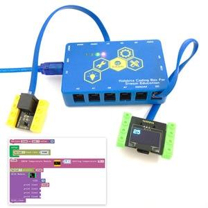 Image 4 - Kidsbits блоки кодирования 18B20 Модуль датчика температуры для Arduino паровой EDU (черный и экологически чистый)