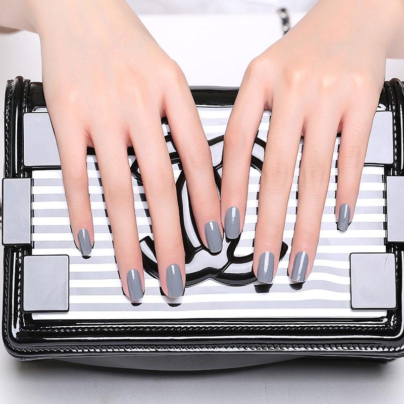 Candy Lover Gray Neutral gel led nail polish for Soak Off Nail Gel ...