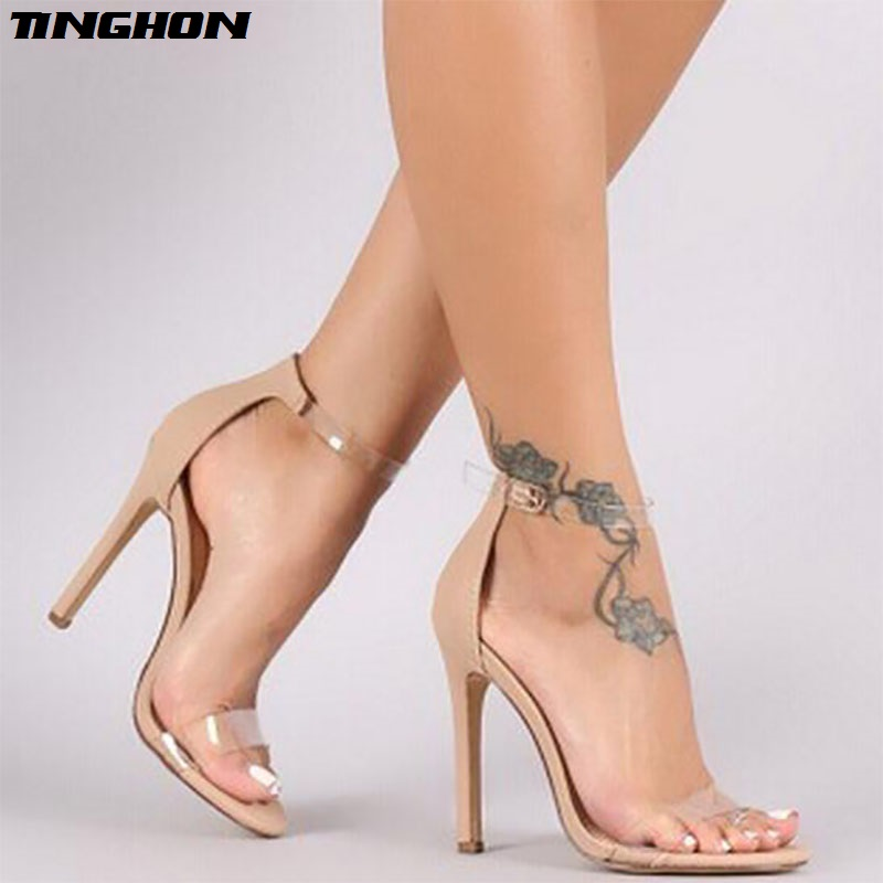 TINGHON summer bride party female sexy thin high heels women pumps ladies  shoes woman ankle strap e5ed60ae265c