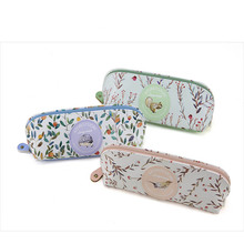 High Quality Big Volume Pencil Case Aforest Story Large Space PU Pencil Bag Unique Scholl&Office Stationery Girl Cute Pencil Box