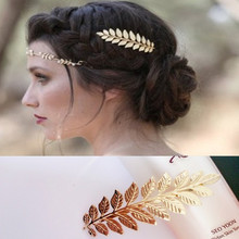 Patterns of ancient gold 2016 leaves open lace jewelry wholesale sales Leaves hair clips combs
