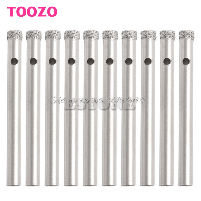 10Pcs 5mm Diamond Coated Core Drill Bits Hole Saw Glass Tile Ceramic Marble #G205M# Best Quality 11pcs 3 14mm glass drill bits diamond coated core cone tile marble glass ceramic hole saw set power tools accessories