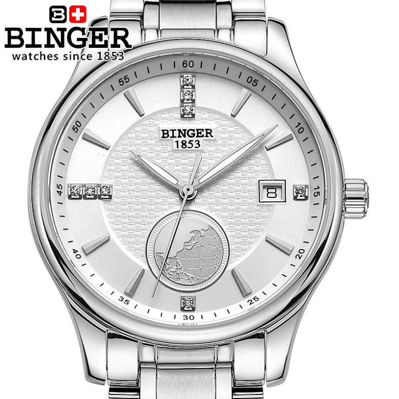 Switzerland watches men luxury brand Wristwatches BINGER Automatic self-wind Diver luminous full stainless steel watch BG-0409-5 switzerland men s watch luxury brand wristwatches binger luminous automatic self wind full stainless steel waterproof b106 2