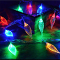 10M 50 Led String Lights Hard Leaves Fairy Decorative Lights Xmas Wedding party Christmas Garland Curtain Decoration Home decor