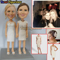 Twin sister sculpture lesbian figurine wedding cake topper mini statue custom bobblehead bobble head hand crafted personalized
