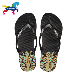 Image 5 - Hotmarzz tongs à talons hauts pour femmes, pantoufles dété, sandales tanga de plage, chaussures de maison