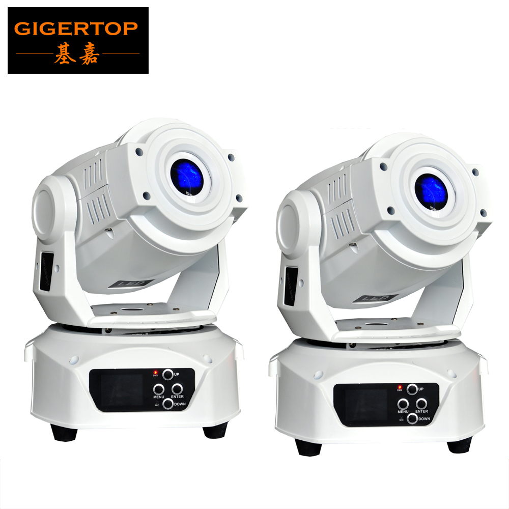 2Pcs/Lot White Housing 90W Led Moving Head Spot Light Disco Light Low Noise For Disco DJ Lighting DMX 512 Control Stage Lighting 6pcs lot white color 132w sharpy osram 2r beam moving head dj lighting dmx 512 stage light for party