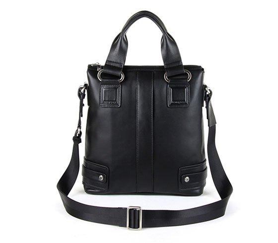 2011 top quality genuine leather shoulder handbag tote bag men's handbag laptop bag briefcase black free shipping